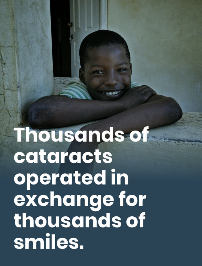 Thousands of cataracts operated in exchange for thousands of smiles